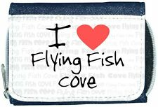 I Love Heart Flying Fish Cove Denim Wallet
