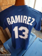 Mens Majestic MLB Los Angeles Dodgers Hanley Ramirez Name & Number Shirt NWT L
