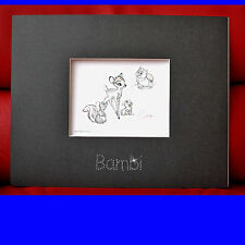 SWAROVSKI Special Edition BAMBI HAND DRAWN DISNEY LITHOGRAPH w/ Certificate