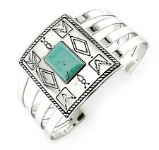 Victoria Adams / Carolyn Pollack Sterling Silver Cuff Bracelet with Turquoise