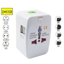 Universal World Dual USB Multi Plug Charger Travel Adapter Converter AU,US UK EU
