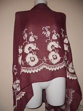 NEW  EMBROIDERY SCARF COTTON SCARVES SHAWLS  STOLE WRAP SHAWL PASHMINA