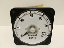 NEW OLD STOCK! PANEL MOUNT POWER PERCENT METER 2903-001 0001-0508-001 0-125%
