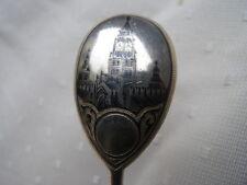 Russland Moskau 84 Niello Tula Stadtansicht Silber Löffel Andenkenlöffel 1898