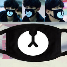 Hot 2015 New Arrival 1x Kpop EXO Chanyeol Lucky Bear Black Mouth Mask Chan Yeol