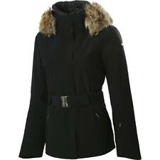 NWT SPYDER Women Black DIAMOND Ski Jacket Sz 4 Real Coyote Fur LUXURY Coat MINT