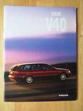 VOLVO V40 Range 1998 UK Mkt prestige sales brochure - T4 2.0T