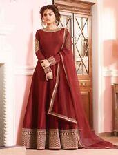 Indian Stylish Designer Bollywood Party Blue Anarkali Salwar Suit Kameez Dress