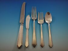 William and Mary by Lunt Sterling Silver Flatware Set Service 251 Pieces Huge