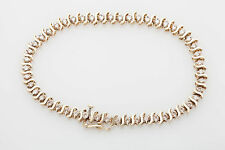 Estate $5000 2ct Diamond 10k Yellow Gold S LINK Tennis Bracelet