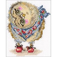 Counted Cross Stitch Kit. What a Wonderful World. Owl   6 x 4 inches