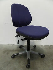 Dark Blue Low Back RH Operators Chair Without Arms - FREE DELIVERY