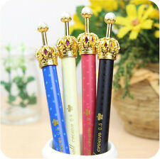 4 PCS Fresh Princess Crown Ballpoint Pens For Writing Office Novelty Stationery