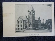 Early 1900's The City Hall in Sterling, IL Illinois PC