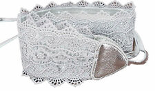 Wide belt obi to tie COLOR TO CHOOSE FROM headband women's lace