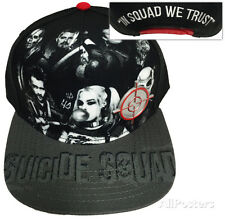 Suicide Squad- In Squad We Trust Snapback Apparel Hat ONE SIZE - Black