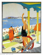 old WEYMOUTH SEASIDE uk TRAVEL ANTIQUE POSTER PRINT ART PAINTING large