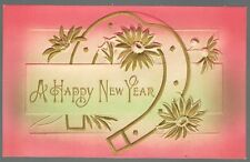 Vintage 1908 Happy New Year Good Luck Postcard