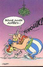 Asterix et Obelix Idéfix Bonne Année carte postale cp postcard de Voeux Uderzo
