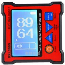 DXL360S Digital Protractor Inclinometer Dual Axis Level Box