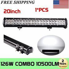 XP 126W 20INCH CREE LED WORK BAR LIGHT OFFROAD TRUCK LAMP 4WD SPOT/FLOOD/COMBO