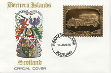 GB Locals - Bernera (2257) - 1985 Gold Cars Cadillac  on First Day Cover