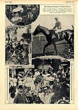 Die grosse Woche in Baden-Baden Pferderennen Sieger Jockei J.Reiff /Hautbois1906