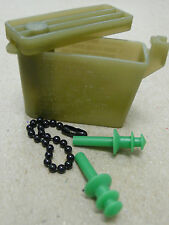 USGI EAR PLUGS WITH CHAIN AND CASE SIZE SMALL GREEN NEW