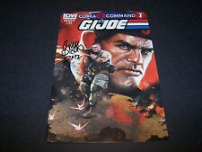 SIGNED CHUCK DIXON GI JOE #9 CVR A COBRA COMMAND PART1 FOLLOW UP TO CIVIL WAR
