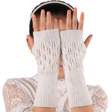Fashion Unisex Women Ladies Fingerless Gloves Warm Gloves Knitted Winter Warm