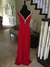 NWT JVN BY JOVANI RED PROM/PAGEANT/FORMAL DRESS/GOWN #20391 SIZE 2