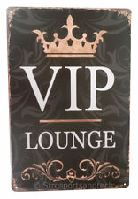 VIP Lounge Exclusive Club Funny Tin Sign Bar Cafe Garage Wall Decor Retro Gift