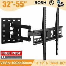 "Fit Sharp Toshiba Soniq Teac LCD LED Plasma TV Wall Mount Swivel Bracket 26""-55"""
