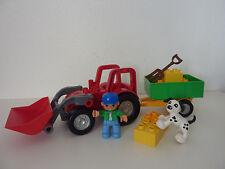LEGO Duplo großer roter Traktor + Anhänger -Trecker für Bauernhof - 5647 -Tiere