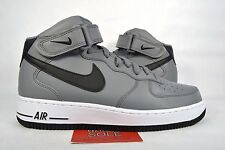 NEW Nike Air Force 1 Mid 07 COOL GREY BLACK WHITE 315123-026 sz 10.5
