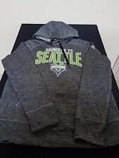 New Women Adidas Seattle Sounders FC MLS Soccer Climawarm Pullover Hoodie Large