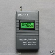 FC-102 Frequency Meter CTCSS/DCS Scanner for Ham Radio Kenwood 50MHz--2400MHz