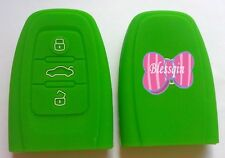 GREEN SILICONE SMART KEY COVER SUITS AUDI A4 A5 A6 A7 A8 Q5 S4 S5 S6 S7 RS