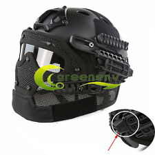 Tactical Protective G4 Full Face Mesh Mask Goggles Armor System FAST Bump Helmet