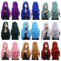 Women Long Curly Hair Cosplay Fashion Cosplay Costume Wig Halloween Hair + Cap