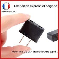 ADAPTATEUR ELECTRIQUE - FRANCE VERS ETATS UNIS USA US PRISE - AVEC 2 PLOTS