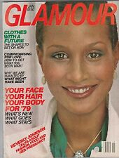 VINTAGE Glamour Magazine  JANUARY 1979 BEVERLY JOHNSON COVER