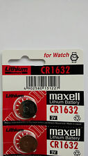 2 NEW MAXELL CR1632 ECR1632 1632 BR1632 DL1632 ECR1632 3V BATTERY EXP 12-2026