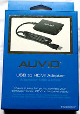 USB to HDMI Adapter XP/Win7/8/10 1920x1080 ADD TV TO COMPUTER HD with Sound
