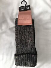 Next Women's/girls Two Pairs Of Thermal Wool Knee High Socks-new