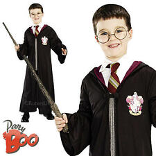 Harry Potter Robe + Wand, Glasses Boys Fancy Dress Childs Kids Book Week Costume