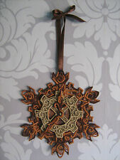 Embroidered Steampunk Christmas Tree Decoration