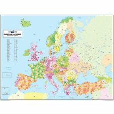 European Postcode Map - Laminated Wall Map For Business