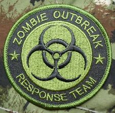 ZOMBIE HUNTER OUTBREAK RESPONSE TEAM TACTICAL BIOHAZARD OD GREEN IRON ON PATCH