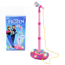 NEW STAND MICROPHONE MIC PHONE DISNEY FROZEN ELSA ANNA TOYS MUSIC SING